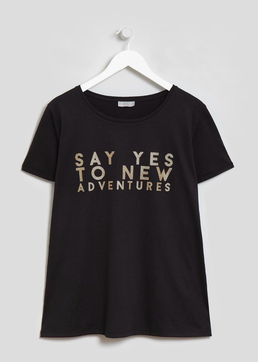 Papaya Curve Adventure Slogan T-Shirt
