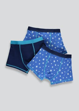 Boys 3 Pack Star Print Trunks (2-13yrs)