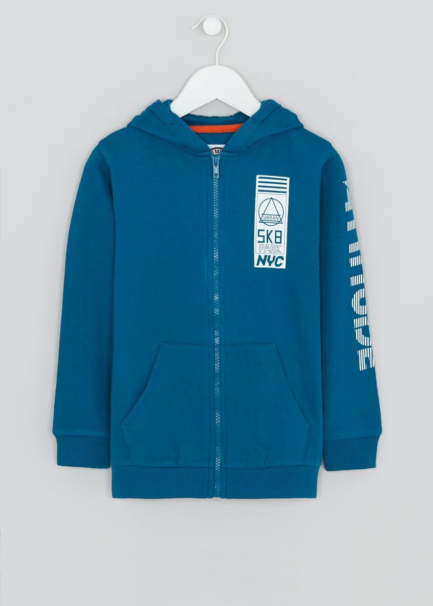 Boys Sk8 Slogan Zip Through Hoodie (4-13yrs)