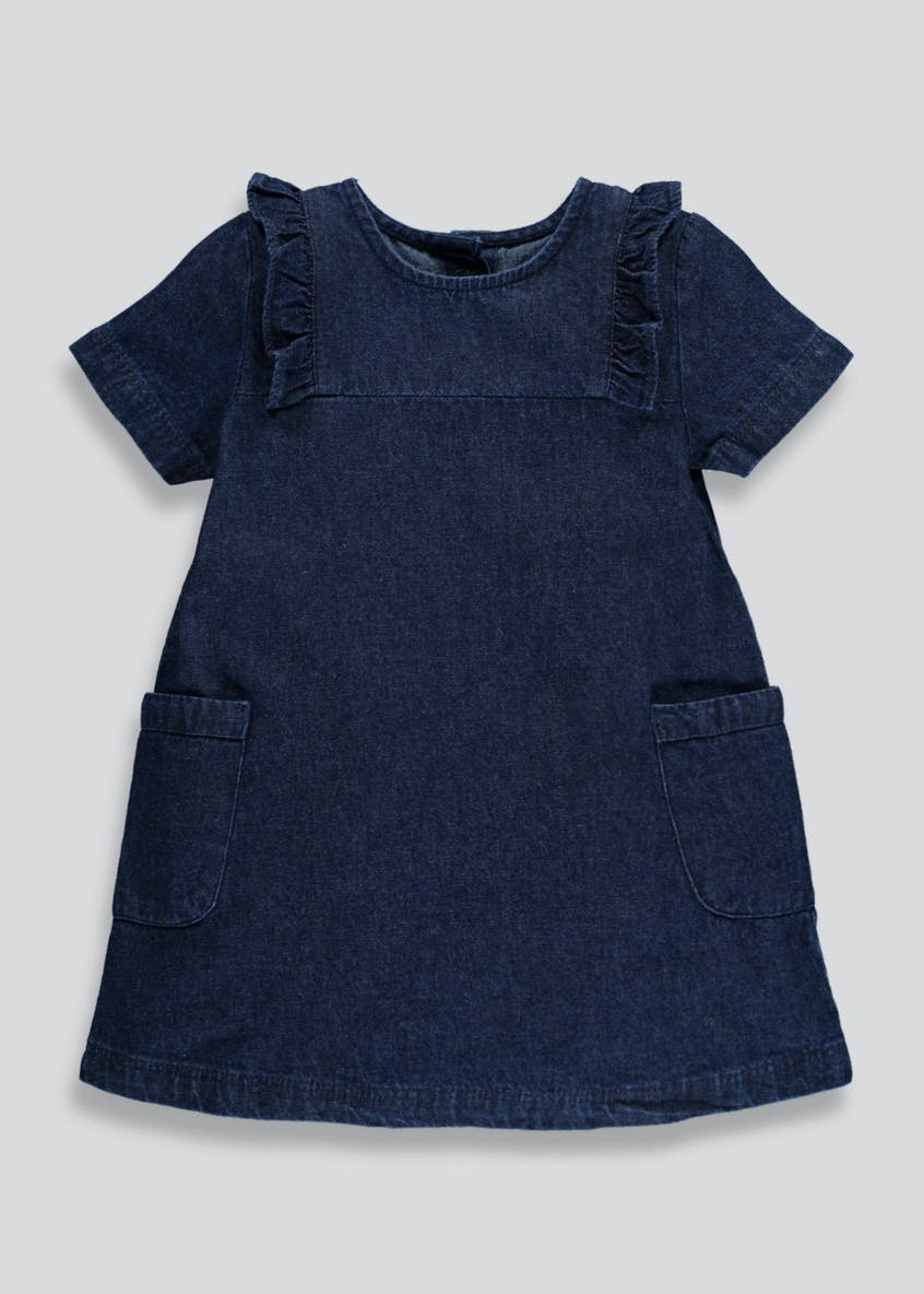 Girls Frill Denim Dress (3mths-6yrs)