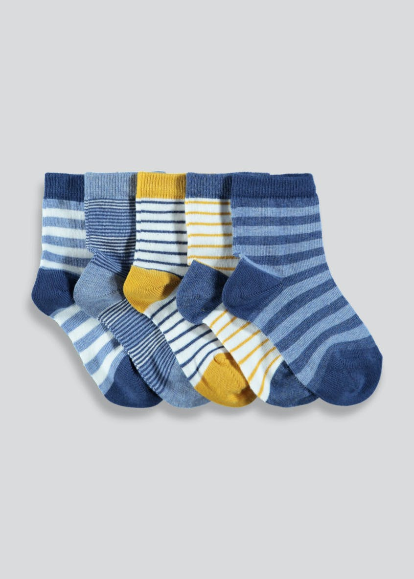 Boys 5 Pack Stripe Socks (Newborn-8.5)