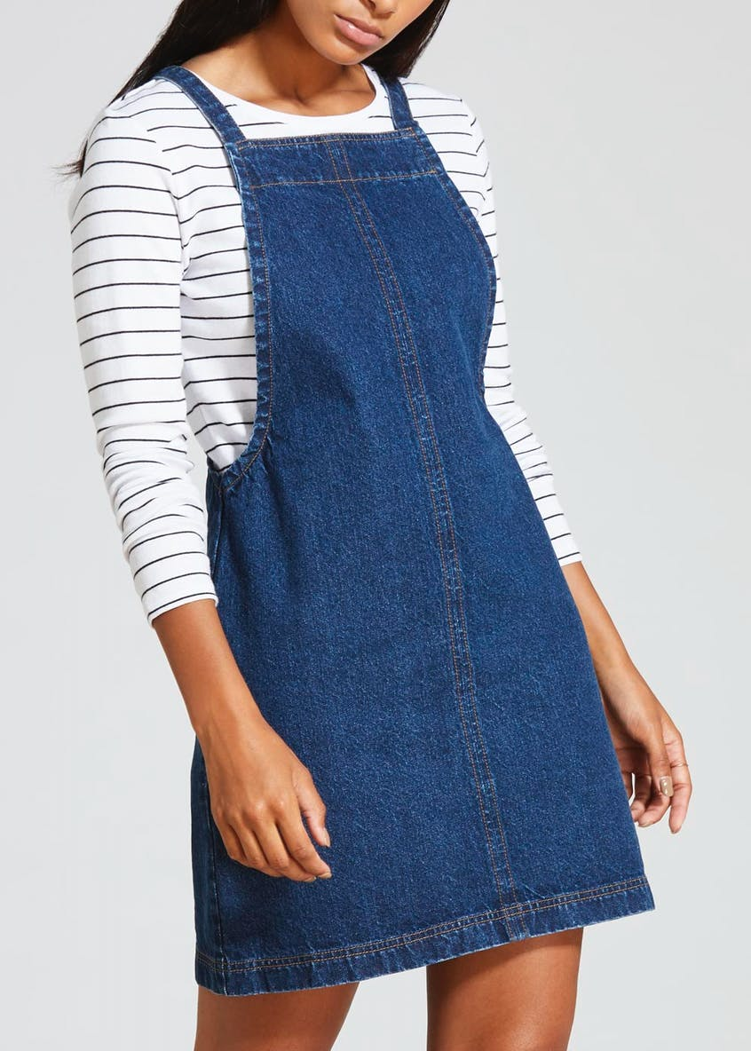Denim Pinafore - Darkwash