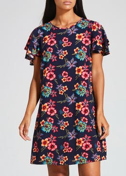 Floral Double Frill Dress