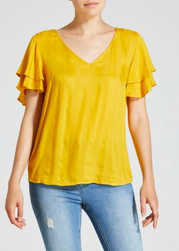 Double Frill Sleeve Box Top