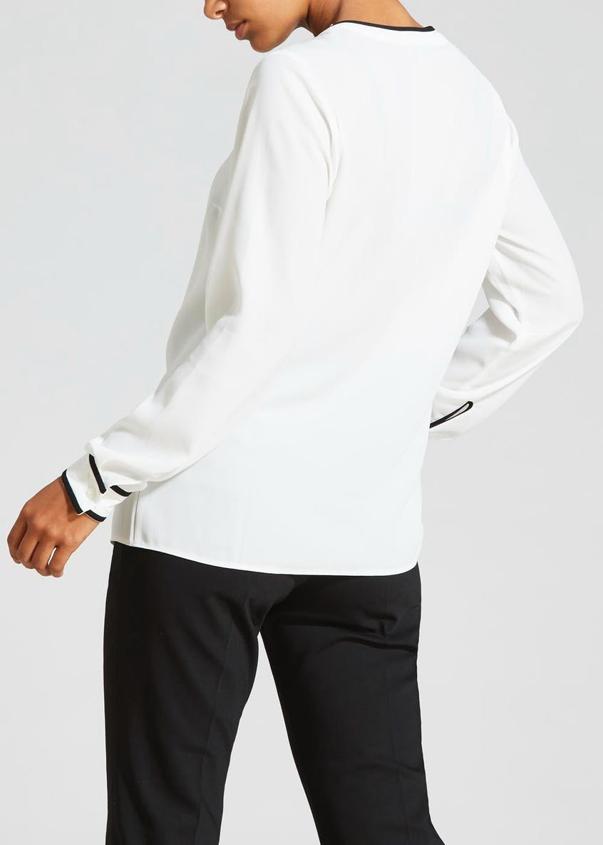 Piped Contrast Blouse