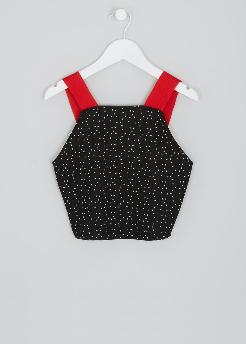 Girls Candy Couture Spot Crop Top (9-16yrs)