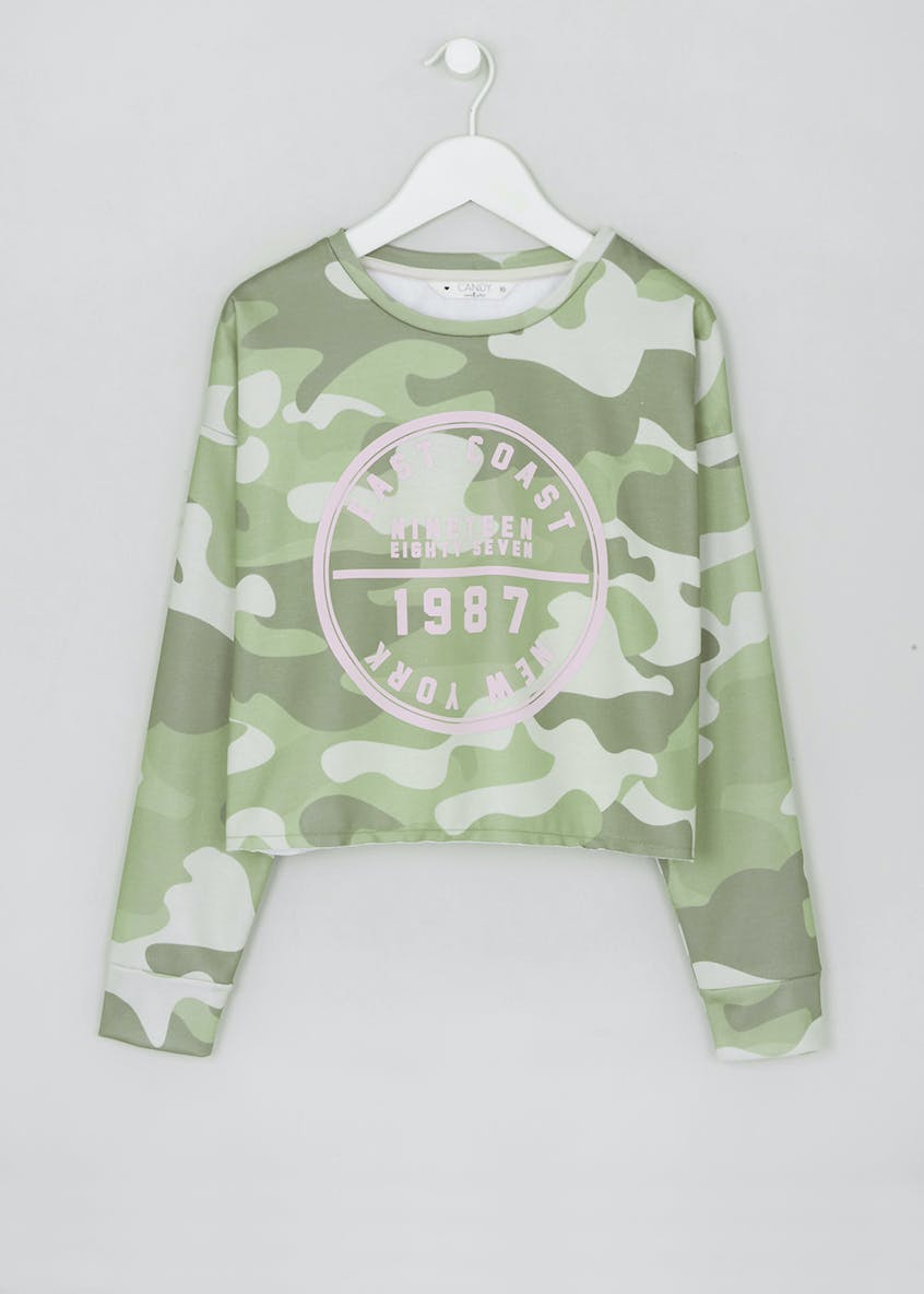 Girls Candy Couture Camouflage Sweatshirt (9-16yrs)