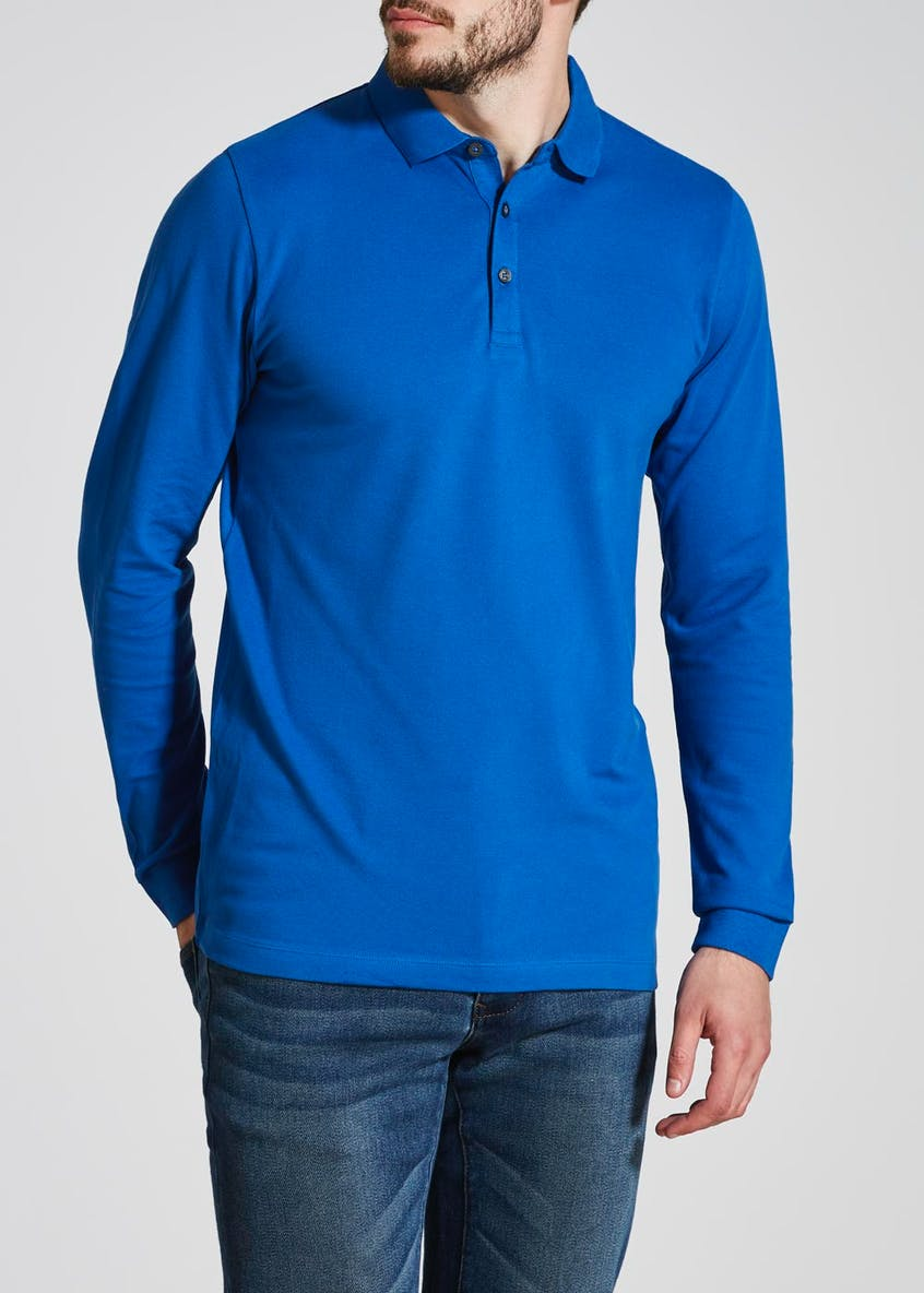 Long Sleeve Stretch Polo Shirt
