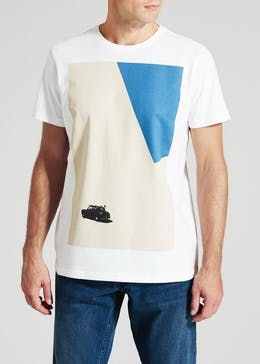 Abstract Car Graphic Print T-Shirt