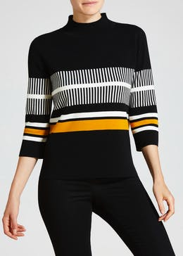 Stripe Funnel Neck Jumper