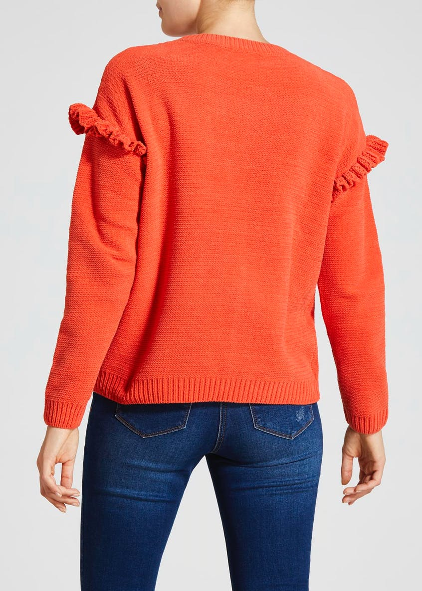 Frill Chenille Cable Jumper