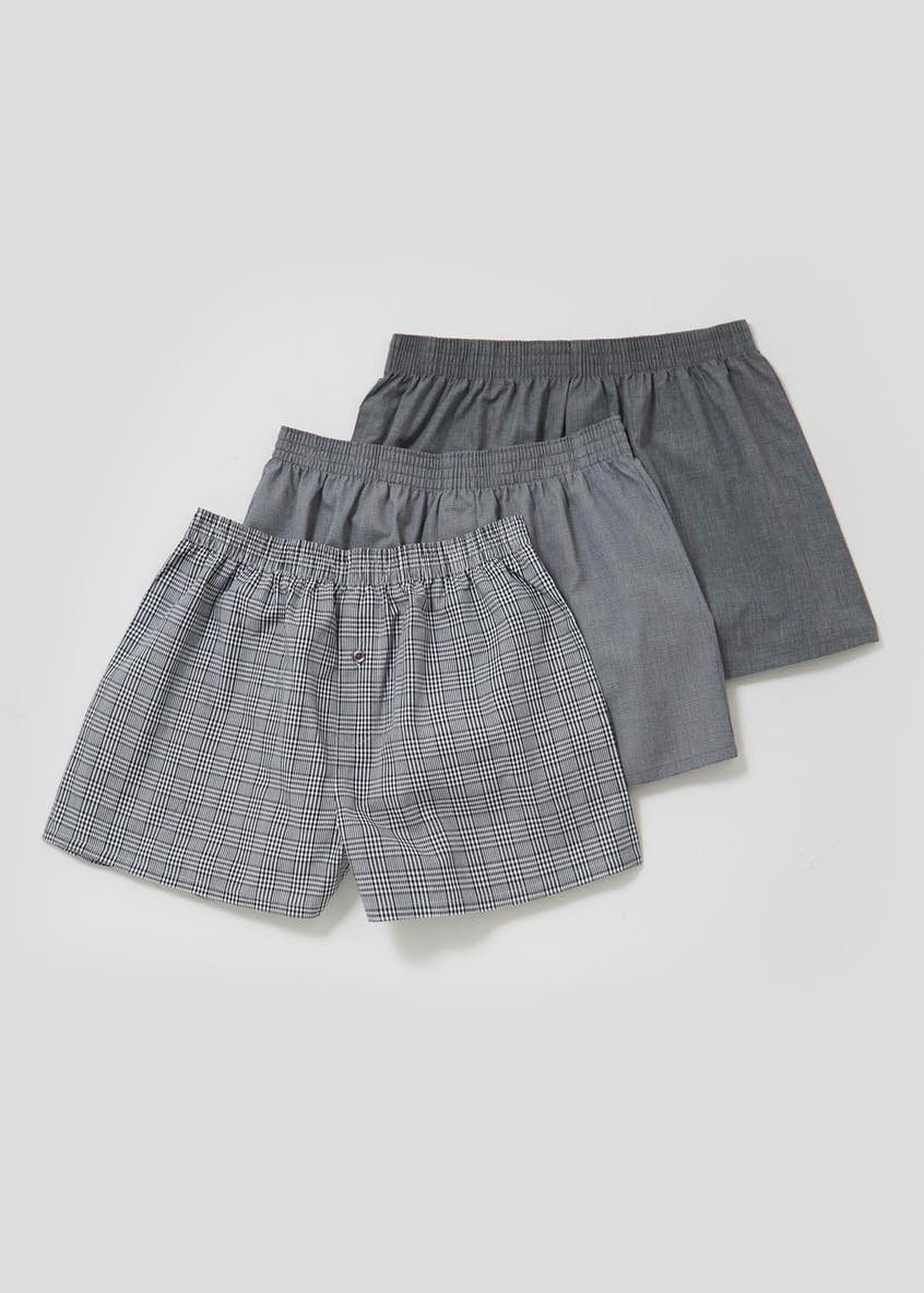 3 Pack Woven Boxers