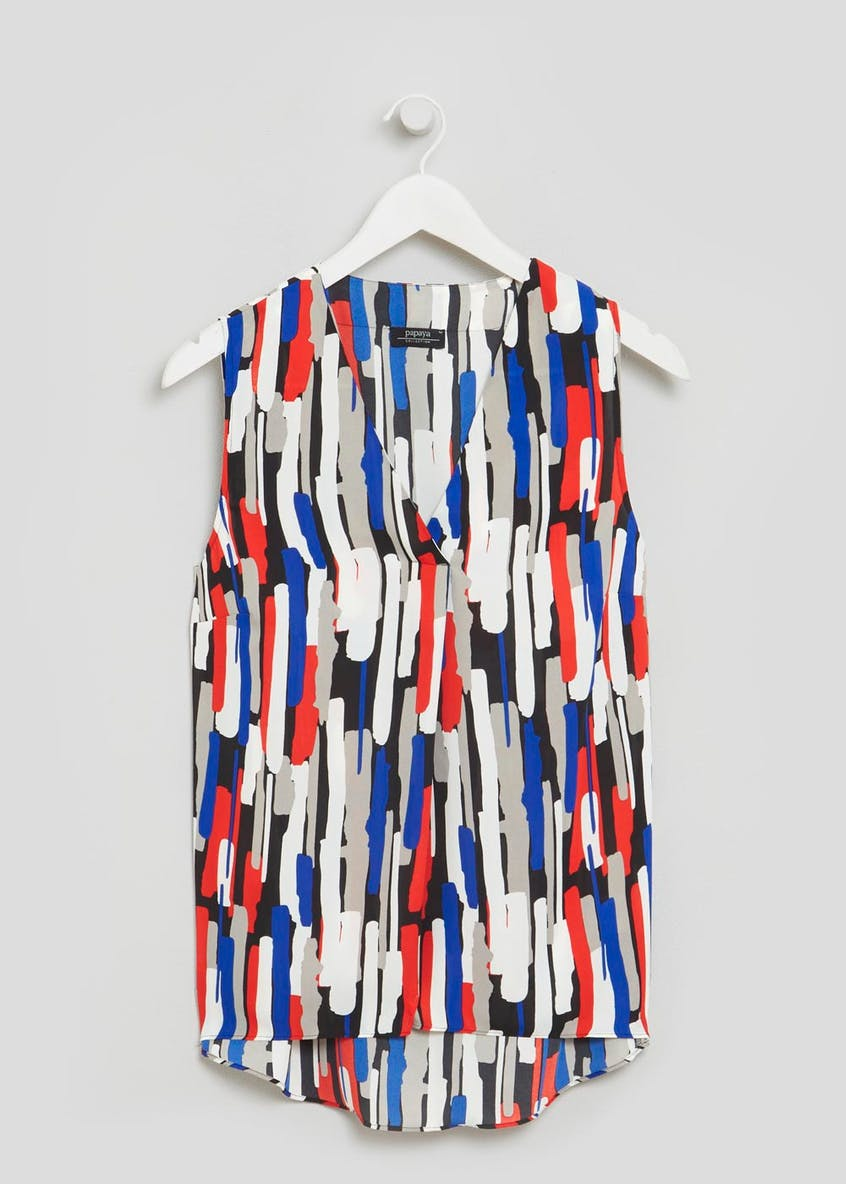 Brushstroke Print Vest Top