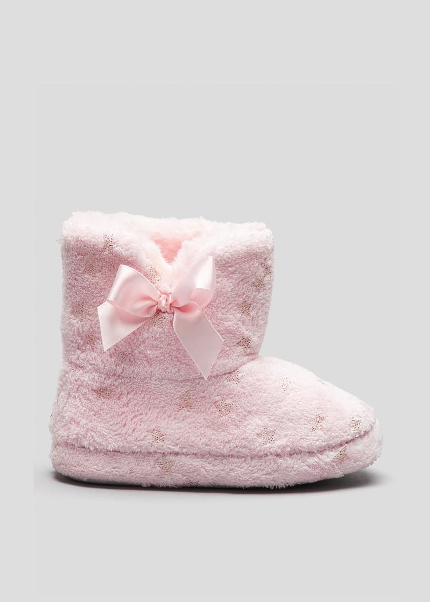 Girls Star Slipper Boots