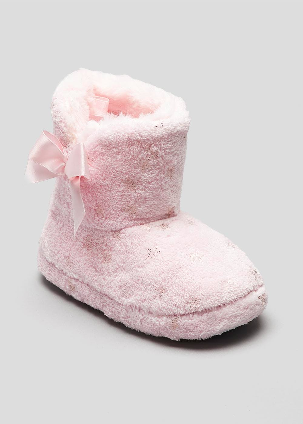 5eacf2734 Girls Star Slipper Boots – Pink – Matalan