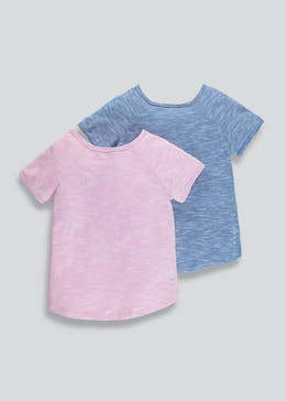 Girls Souluxe 2 Pack Sports T-Shirts (4-13yrs)