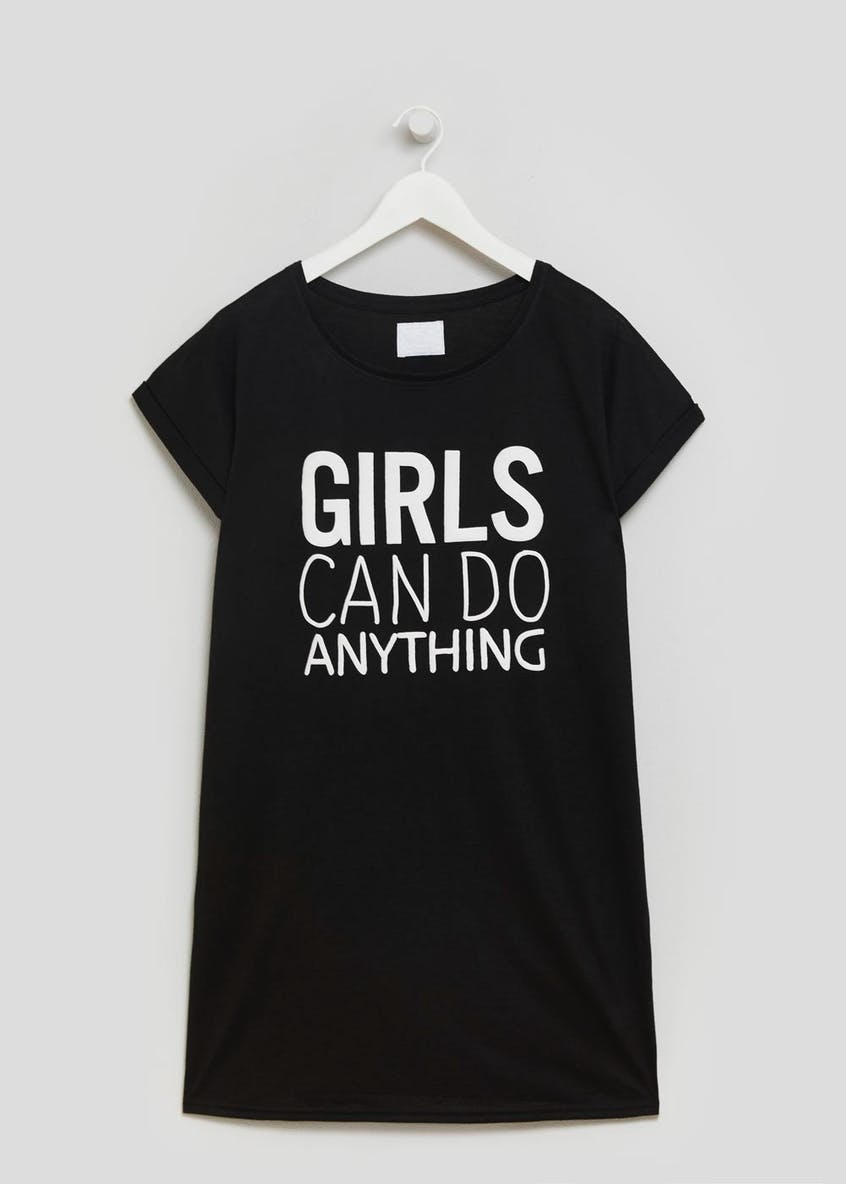 Girls Can Do Anything Slogan Nightie