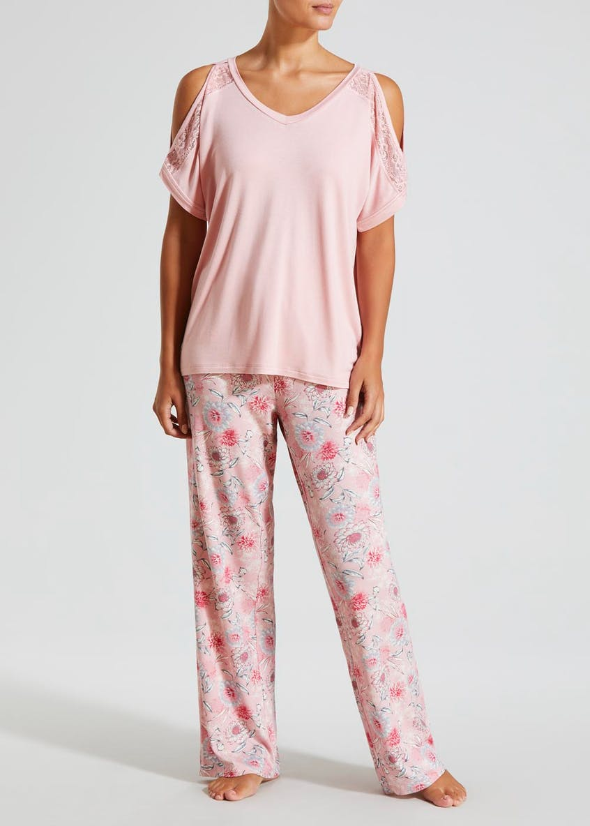 Cold Shoulder Pyjama Top