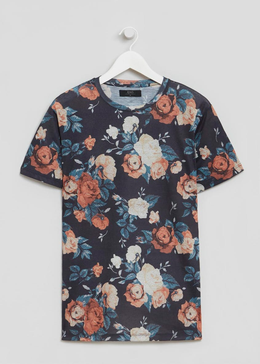 Floral Sublimation Print T-Shirt