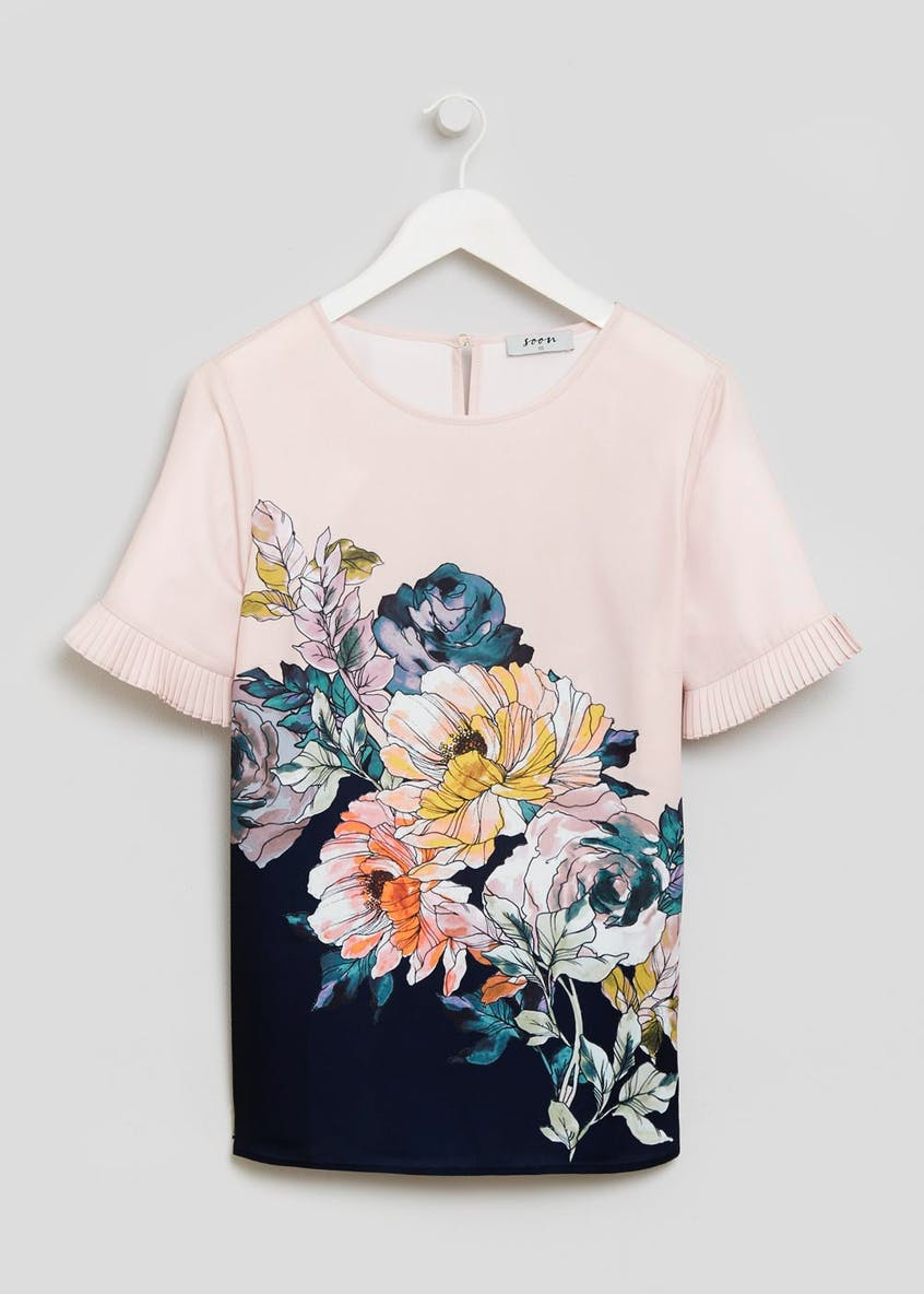 Soon Floral Pleat Sleeve Box Top