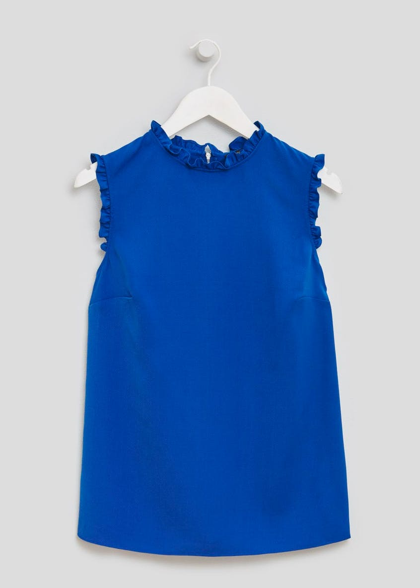 Frill Sleeveless Blouse