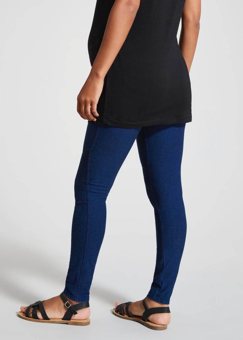 Maternity Pull On Biker Leggings