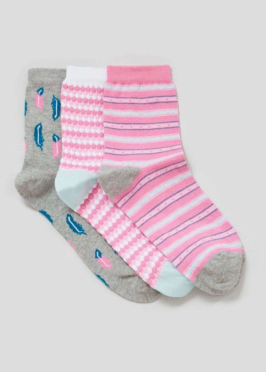 3 Pack Feather Socks
