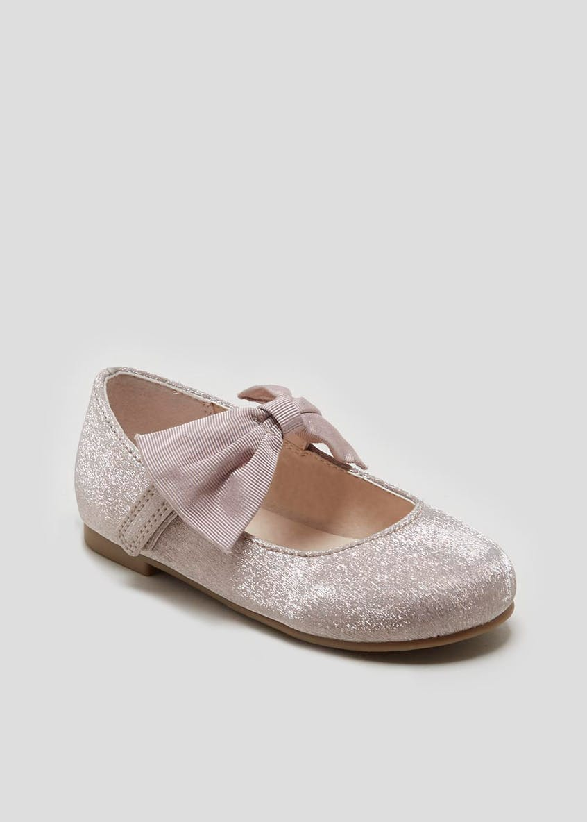 Girls Bow Ballet Shoes (Younger 4-12)
