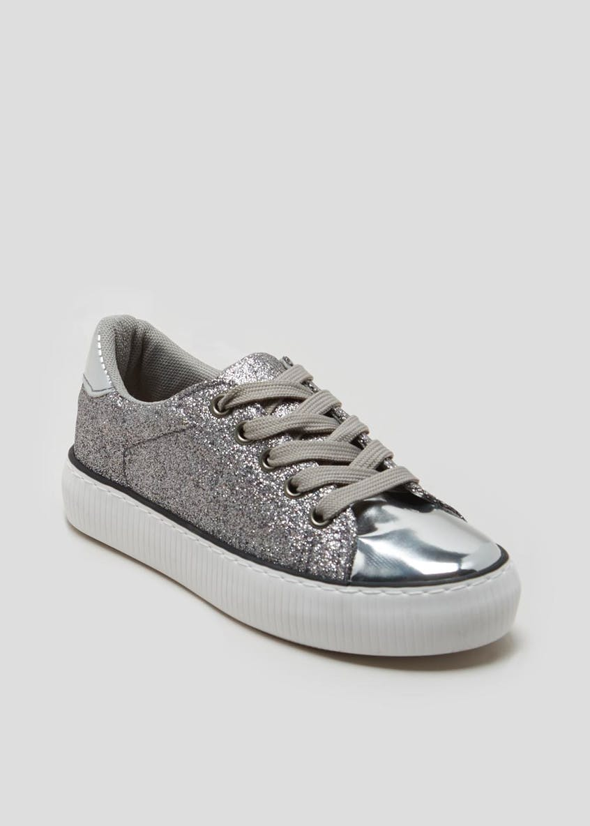Girls Glitter Lace Up Pumps (Younger 10-Older 5)