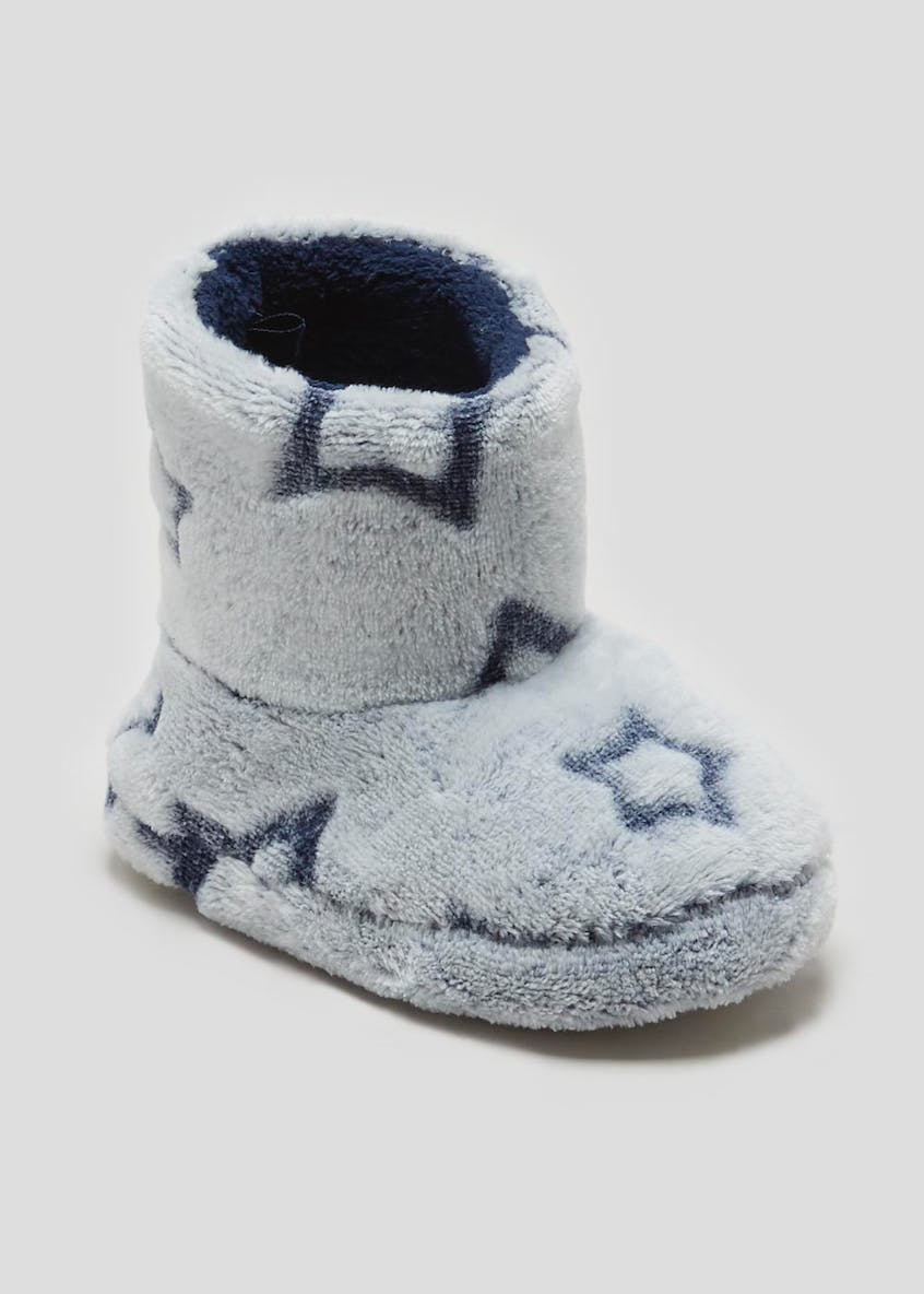 Boys Star Slipper Boots (Younger 4-12)