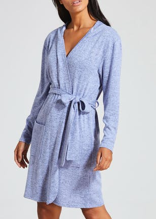 Snit Lounge Dressing Gown – Blue – Matalan
