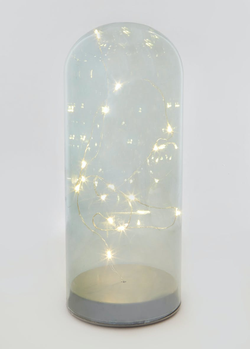 Large Tinted LED Glass Dome (26cm x 10cm x 10cm)