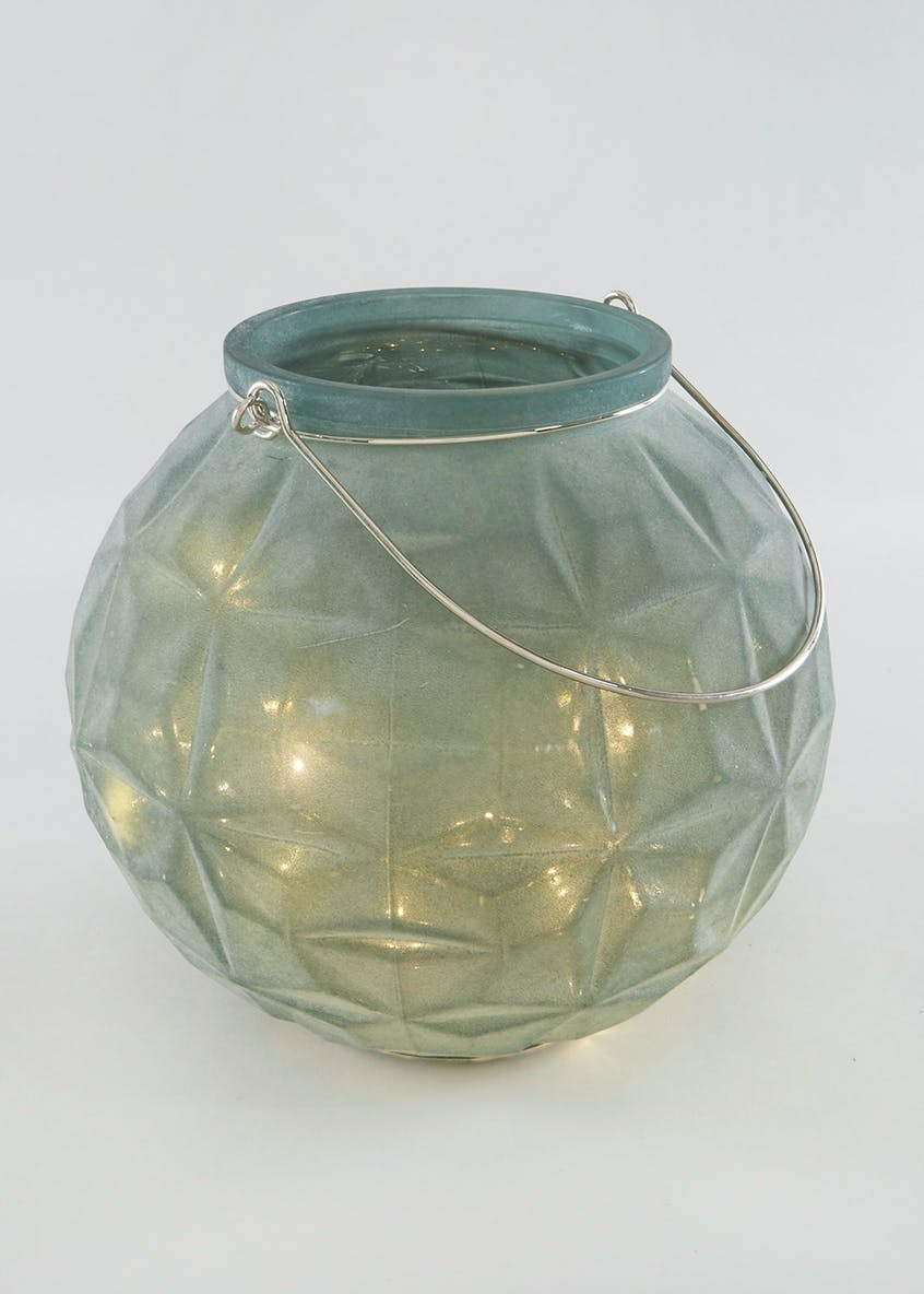LED Frosted Glass Vase (23cm x 23cm x 21cm)