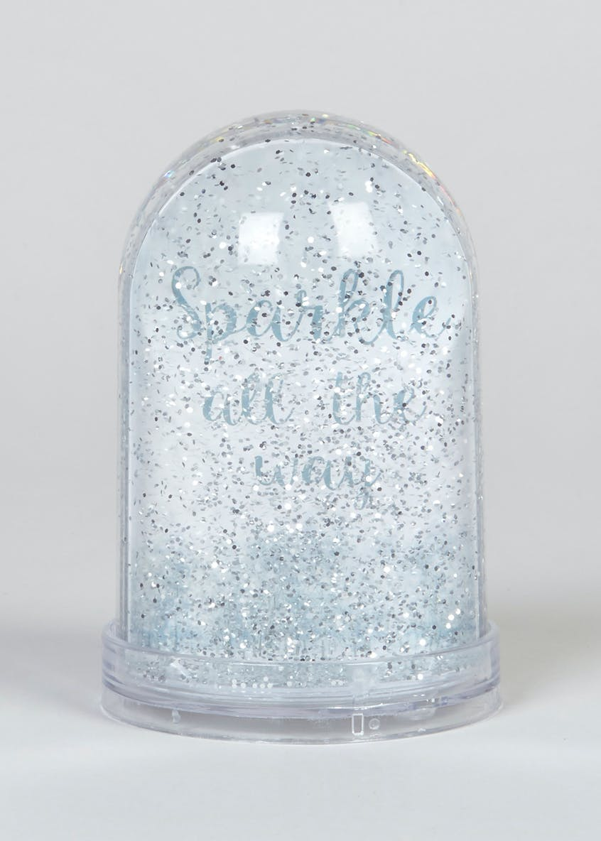 Photo Frame Glitter Snow Globe (14cm x 9cm x 9cm)