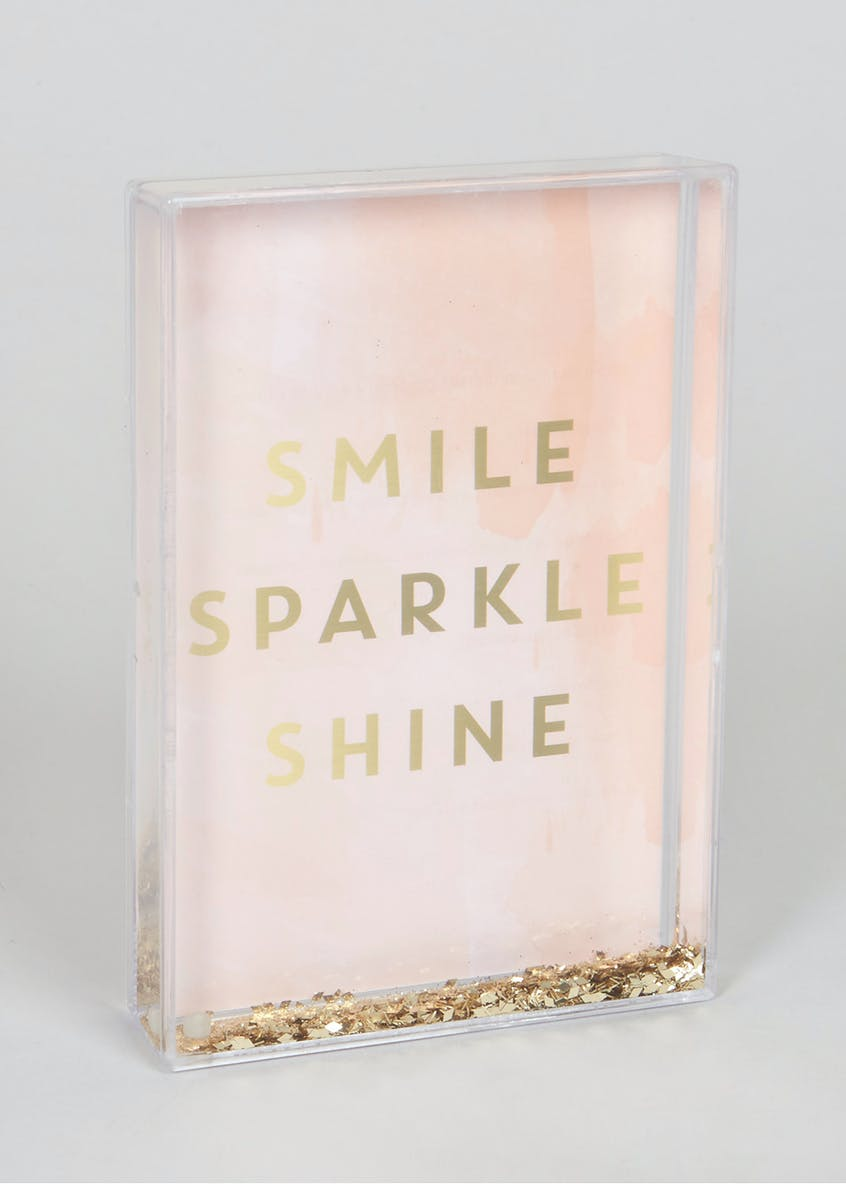 Smile Sparkle Shine Glitter Photo Frame (16cm x 11cm)