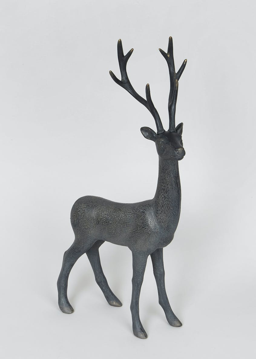 Resin Standing Stag Ornament (50cm x 25cm x 11cm)