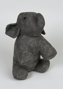 Leather Effect Elephant Doorstop