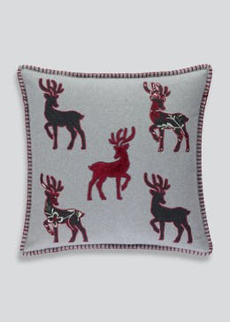 Appliqué Stag Cushion (46cm x 46cm)