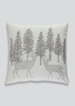 Beaded Stag Cushion (46cm x 46cm)