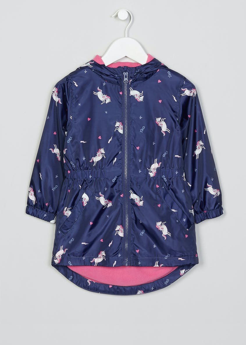 Girls Lightweight Unicorn Mac (4-13yrs)