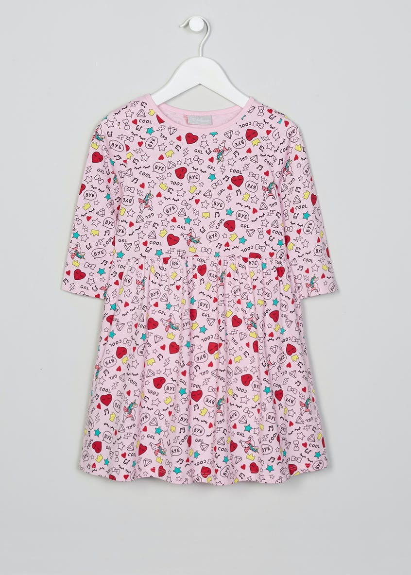 Girls Doodle Print Dress (4-13yrs)