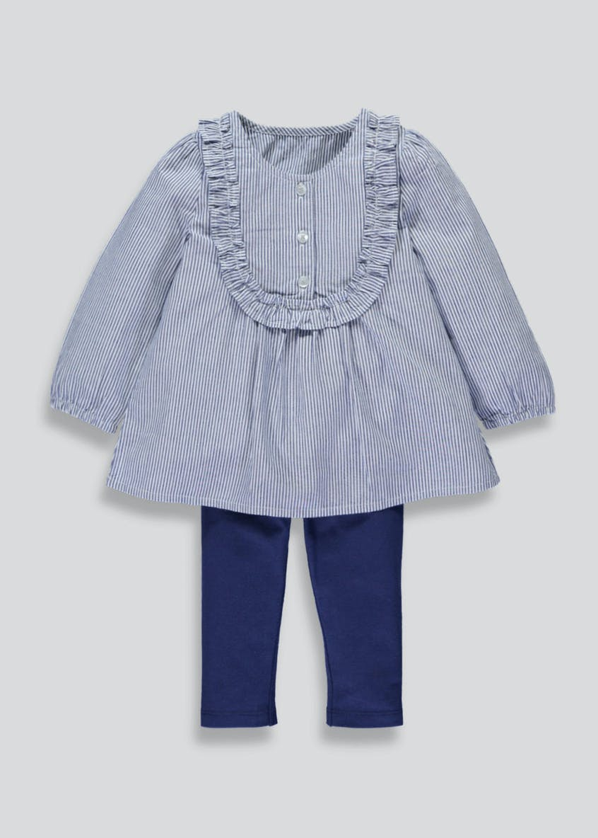Girls Frill Shirt & Leggings Set (3mths-6yrs)