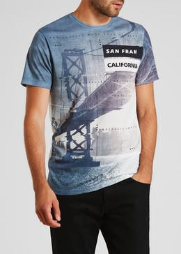 San Francisco Sublimation Print T-Shirt