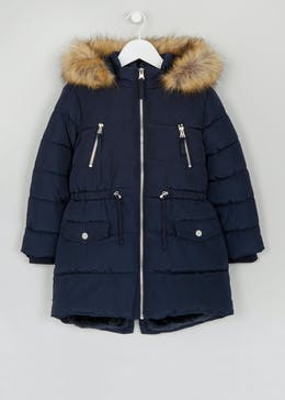 Girls Padded Parka Coat (4-13yrs)