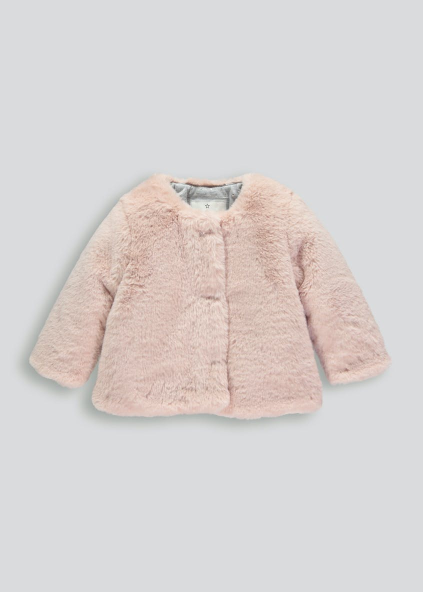 Girls Faux Fur Jacket (3mths-6yrs)