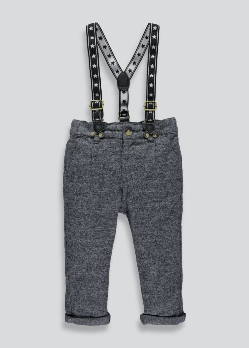 Boys Stretch Trousers with Braces (3mths-6yrs)