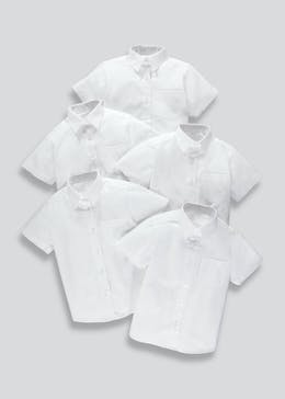 Girls 5 Pack School Blouses (4-16yrs)