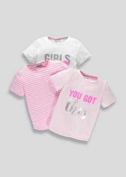Girls 3 Pack T-Shirts (4-13yrs)