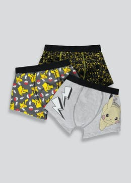 Boys 3 Pack Pokemon Trunks (4-11yrs)