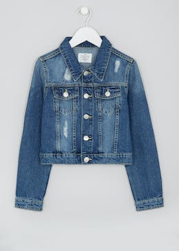 Girls Candy Couture Cropped Denim Jacket (9-16yrs)
